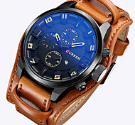 cheap -CURREN Men's Quartz Japanese Quartz Wrist Watch Military Watch Sport Watch Calendar / date / day Leather Band Luxury Vintage Casual Dress