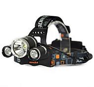 cheap -1000LM 3x XML T6 White 2R2 UV LED Headlamp Head Light Torch Charger Bare machine