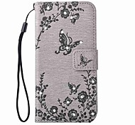 EFORCASEButterfly Flower Embossed Diamond Lanyard Phone Case for Samsung Galaxy S7 edge S7 S6 edge S6 S5