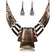 cheap -Women's Jewelry Set Drop Earrings Statement Necklaces Vintage Sexy Festival/Holiday European Party Daily Casual Silver Plated Alloy