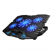 cheap -Adjustable LED Screen Smart Control Laptop Cooling Pad with 5 Fans