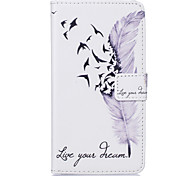 PU Leather Material Feather Pattern Painting Pattern  Phone Cases for Sony Xperia X/XP/Z5/Z5 Mini