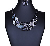 cheap -Women's Jewelry Set - European, Fashion, Euramerican Include Necklace / Earrings Purple / Green / Blue For Wedding / Party / Daily