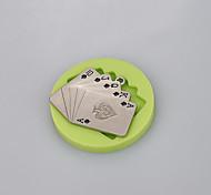 Недорогие -игральные карты силиконовая плесень для помадного торта шоколадная конфета фимо глины украшения инструменты ramdon цвет