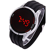 cheap -Men's Digital Digital Watch Sport Watch Touch Screen LED Silicone Band Charm Black