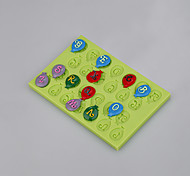 cheap -New Arrival oOal Shape Custom Silicone Cake Decorating Mold Chocolate Mold Candy Ramdon Color
