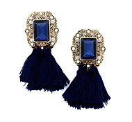 cheap -New Fashion Vintage Jewelry Brand Crystal Tassel Dangle Earrings Brincos Pendiente Statement Earrings For Women