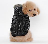 Коты Собаки Плащи Толстовки Одежда для собак Зима Весна/осень Однотонный На каждый день Сохраняет тепло Черный Кофейный Красный Синий