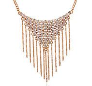Женский Ожерелья с подвесками Синтетические драгоценные камни Позолота Искусственный бриллиант Сплав Кисточки Pоскошные ювелирные изделия