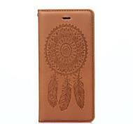 Ganzkörper Brieftasche / Kartenhalter / mit Ständer / Flip / Waffeloptik / Muster Traumfänger PU - Leder Hart Fall-Abdeckung für Apple