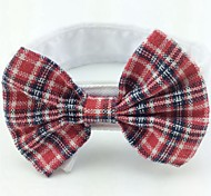 Cat Dog Christmas Tie/Bow Tie Dog Clothes Cute Birthday Wedding Bowknot Rose Red Black/Red Black/White Red/White Costume For Pets