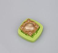 Molde de bolo de silicone macio fondant decoração de jóias forma sabão cor do molde aleatória