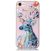 cheap -Case For Apple iPhone X iPhone 8 iPhone 6 iPhone 7 Plus iPhone 7 Glow in the Dark Pattern Back Cover Animal Soft TPU for iPhone X iPhone