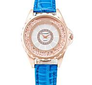 Mulheres Relógio de Moda Relógio de Pulso Relógios Femininos com Cristais Quartzo / PU Banda Legal Casual Preta Branco Azul Vermelho Roxa