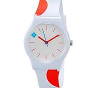 Kids' Wrist watch Quartz Colorful Plastic Band Candy color Cool Casual Orange