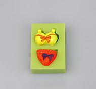 Недорогие -Бюстгальтеры и трусы форма силиконовая форма для торта шоколадные конфеты инструменты цвет случайный