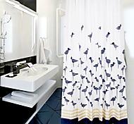200*200cm Elegant Style  Design Waterproof Bathroom Fabric Shower Curtain