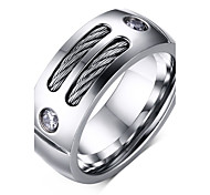 cheap -Men's Band Ring Jewelry Silver Titanium Steel Personalized Vintage Fashion Christmas Gifts Daily Casual Costume Jewelry