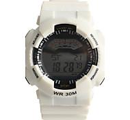 Муж. Спортивные часы электронные часы Кварцевый Цифровой Защита от влаги / Plastic Группа Повседневная Белый