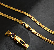Men's Women's Chain Necklaces Circle Gold 18K gold Fashion Classic Personalized Jewelry For Wedding Party Daily Casual Sports
