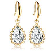 cheap -Women's Girls' 1 Drop Earrings Crystal Bridal Fashion European Crystal Zircon Cubic Zirconia Silver Plated Gold Plated Alloy Geometric