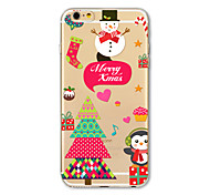 Back Cover Translucent Pattern Christmas gift TPU Soft Case Cover For Apple iPhone 7 7 Plus iPhone 6 6 Plus iPhone 5