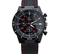 Men's Cool Quartz Casual Wrist Watch Simple Personality Silicone Round Alloy Dial Watch Unique Watch Sport Watch