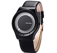 cheap -Men's Quartz Wrist Watch / Casual Watch Leather Band Unique Creative Watch Dress Watch Fashion Cool Black
