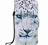 White Leopard Painting PU Phone Case for apple iTouch 5 6 iPod Cases/Covers