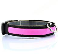 cheap -Dog Collar Strobe/Flashing Solid Nylon Yellow Red Green Blue Pink
