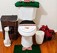 housse de siège de flanelle de qualité& mettre une serviette réservoir d'eau de pad tapis de pied couverture salle de bain se père