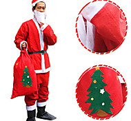 Non-woven Santa Dress Suit Christmas Hat The Beard Coat Pants Belt Does Not Include The Boots