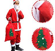 Недорогие -нетканое Санта платье костюм рождества шляпа ремень борода пальто брюки не включает в себя сапоги