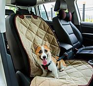 Кошка Собака Чехол для сидения автомобиля Животные Коврики и подушки Водонепроницаемость Компактность Мягкий Черный Бежевый Коричневый