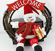 Рождественский венок 25 см Санта снеговик рождественские украшения