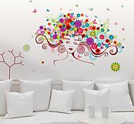 Недорогие -Люди Мода Цветы Наклейки Простые наклейки Декоративные наклейки на стены Украшение дома Наклейка на стену Стена