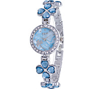 cheap -Women's Quartz Bracelet Watch Rhinestone Imitation Diamond Alloy Band Flower Casual Elegant Fashion Bangle Silver