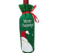 Недорогие -2pcs рождественские украшения Санта-Клаус снеговика красное вино мешок рождества вино крышки бутылки (типа случайная)