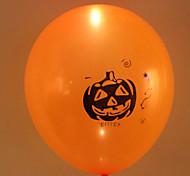 Недорогие -5pcs хэллоуин цвет цветастый свет водить воздушный шар тыквы голову мигающие латексные шары Хэллоуин украшения случайных