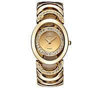 Women's Fashion watch women Imitation Diamond crystal bracelet watch ladies rose gold wrist watch