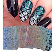 Недорогие -1 Стикер искусства ногтя макияж Косметические Ногтевой дизайн