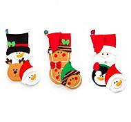 1 шт мультфильм рождественские чулки подарочные пакеты рождественские украшения