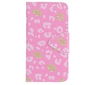 For Samsung Galaxy A5 (2016) A3 (2016) EFORCASE Pink Leopard Painting PU Phone Case