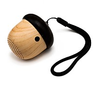 cheap -Miimall J2 Cute Wooden Nut Shape Rechargeable Ultra Portable Mini Wireless Bluetooth Speaker