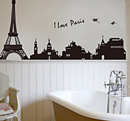 cheap -Landscape Fashion Architecture Wall Stickers Plane Wall Stickers Decorative Wall Stickers, PVC Home Decoration Wall Decal Wall
