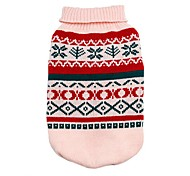 cheap -Cat Dog Sweater Dog Clothes Classic Snowflake Gray Yellow Green Pink Costume For Pets