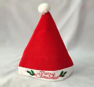 sombrero de la Navidad adulta tapa de la fiesta de Navidad de alta calidad de color rojo sombrero de felpa para el traje de Santa Claus