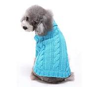 economico -Gatto Cane Maglioni Abbigliamento per cani Casual Solidi Rosso Blu Rosa Costume Per animali domestici