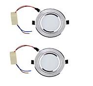 Недорогие -LED даунлайт Тёплый белый / Холодный белый Светодиодная лампа 2 шт.