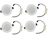 LED даунлайт Тёплый белый / Холодный белый Светодиодная лампа 4 шт.